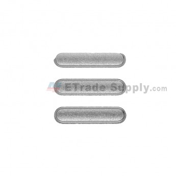 For Apple iPad Air 2 Side Keys  Replacement (3 pcs/set) - Gray - Grade S+