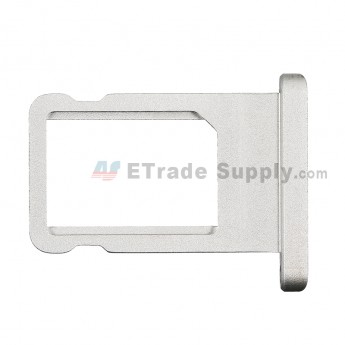 For Apple iPad Air 2 SIM Card Tray  Replacement - Silver - Grade S+