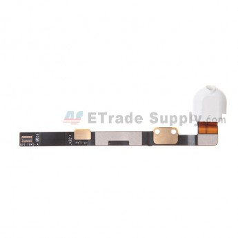 For Apple iPad Mini 3 Audio Flex Cable Ribbon Replacement - White - Grade S+
