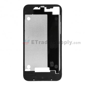 For Apple iPhone 4 Rear Housing Inner Plate with Adhesive Replacement (AT&T) - Black - Grade R