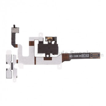 For Apple iPhone 4S Audio Flex Cable Ribbon Replacement - Black - Grade S+