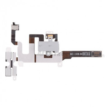 For Apple iPhone 4S Audio Flex Cable Ribbon Replacement - White - Grade S+