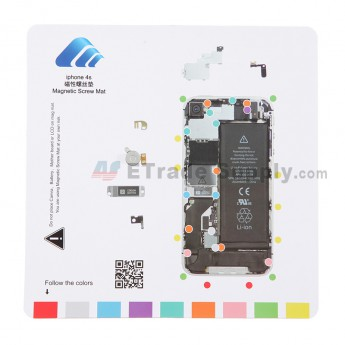 For Apple iPhone 4S Magnetic Screw Mat Replacement - Grade R