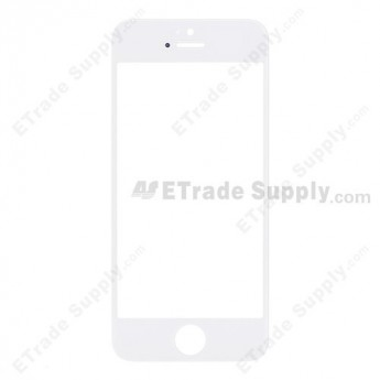 For Apple iPhone 5 Glass Lens Replacement - White - Grade R