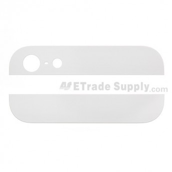 For Apple iPhone 5 Top and Bottom Glass Cover Replacement - White - Grade R