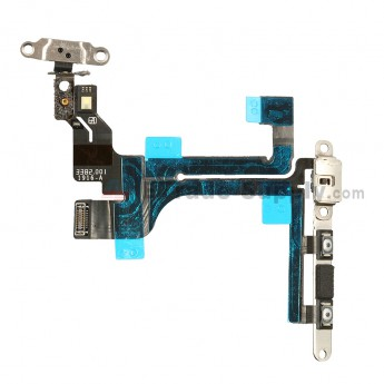 For Apple iPhone 5C Power Button Flex Cable Ribbon Assembly Replacement - Grade S+