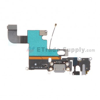 For Apple iPhone 6 Charging Port Flex Cable Ribbon Replacement - Dark Gray - Grade S+
