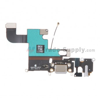 For Apple iPhone 6 Charging Port Flex Cable Ribbon Replacement - Light Gray - Grade S+