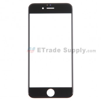For Apple iPhone 6 Glass Lens Replacement - Black - Grade S+