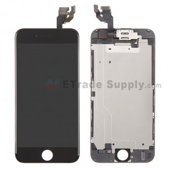 For Apple iPhone 6 LCD Digitizer Assembly with Frame and Small Parts Replacement (Without Home Button) - Black - Grade S