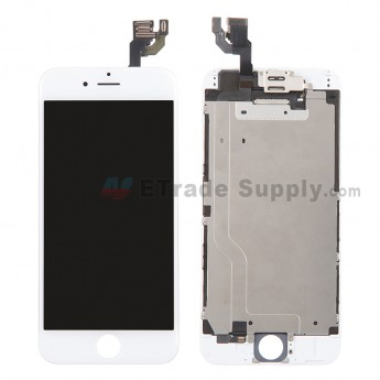 For Apple iPhone 6 LCD Digitizer Assembly with Frame and Small Parts Replacement (Without Home Button) - White - Grade A