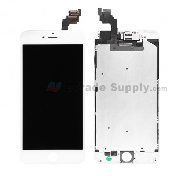 For Apple iPhone 6 Plus LCD Screen and Digitizer Assembly with Frame and Small Parts Replacement (Without Home Button) - White - Grade S+