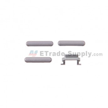 For Apple iPhone 6 Plus Side Keys Replacement (4 pcs/set) - Gray - Grade S+