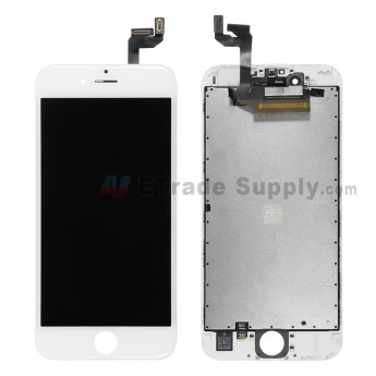 For Apple iPhone 6S LCD Screen and Digitizer Assembly with Frame Replacement - White - Grade S+