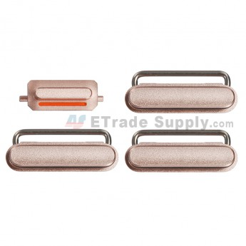 For Apple iPhone 6S Plus Side Keys Replacement (4 pcs/set) - Rose Gold - Grade S+
