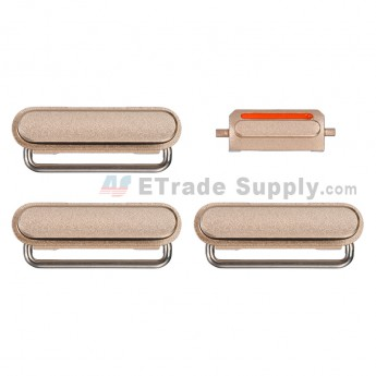 For Apple iPhone 6S Side Keys Replacement (4 pcs/set) - Gold - Grade S+