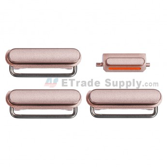 For Apple iPhone 6S Side Keys Replacement (4 pcs/set) - Rose Gold - Grade S+