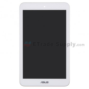 For Asus MeMO Pad 8 ME180A LCD Screen and Digitizer Assembly with Front Housing Replacement - White - With Logo - Grade S+