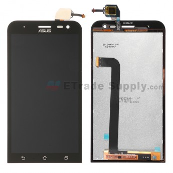 For Asus Zenfone 2 ZE500ML LCD Screen and Digitizer Assembly  Replacement - Black - Asus Logo - Grade S+