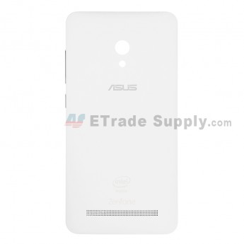 For Asus Zenfone 5 A500CG Battery Door Replacement - White - Grade S+