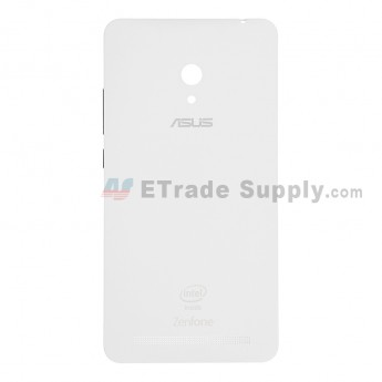 For Asus Zenfone 6 A600CG Battery Door Replacement - White - With Logo - Grade S+