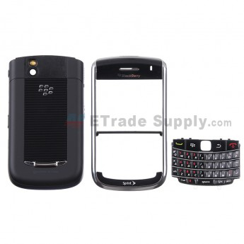 For BlackBerry Bold 9650 Housing Replacement - Black - Grade S+