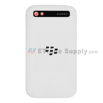 For BlackBerry Classic Q20 Battery Door  Replacement - White - Without Logo - Grade S+