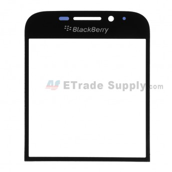 For BlackBerry Classic Q20 Glass Lens Replacement - Black - With Logo - Grade R
