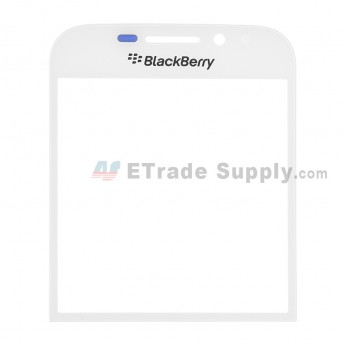For BlackBerry Classic Q20 Glass Lens Replacement - White - With Logo - Grade R
