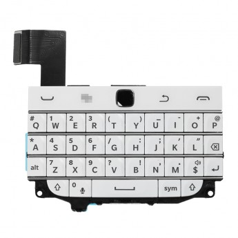 For BlackBerry Classic Q20 Keyboard and Keypad Replacement - White - Grade S+