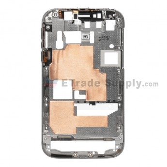 For BlackBerry Classic Q20 Reclaimed Middle Frame Replacement - Silver - Grade S+