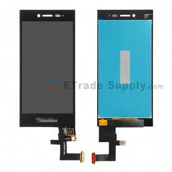 For BlackBerry Leap LCD Screen and Digitizer Assembly Replacement - Black - With Logo - Grade S+