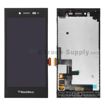 For Blackberry Leap LCD Screen and Digitizer Assembly with Frame Replacement - Black - Grade S+