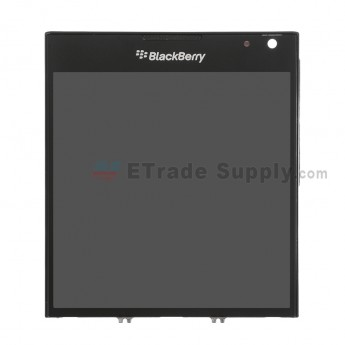 For BlackBerry Passport LCD Screen and Digitizer Assembly with Frame Replacement (03 Version) - Black - With Logo - Grade S+