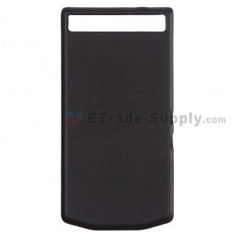 For BlackBerry Porsche Design P'9982 Battery Door Replacement - Black - Grade S+