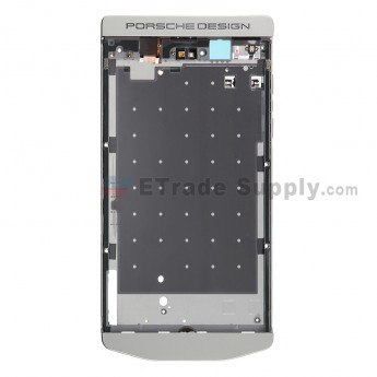 For BlackBerry Porsche Design P'9982 Middle Plate Replacement - Silver - Grade S+