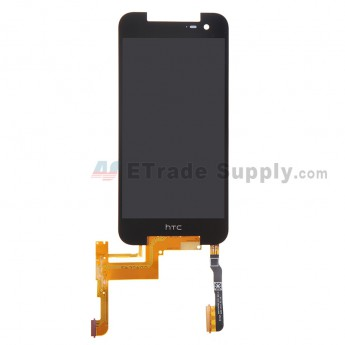 For HTC Butterfly 2 LCD Screen and Digitizer Assembly  Replacement - Black - HTC Logo - Grade S+