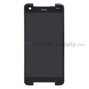 For HTC Butterfly S LCD Screen and Digitizer Assembly without Light Guide Replacement - Black - Grade S+