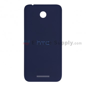 For HTC Desire 510 Battery Door Replacement - Blue - With Logo - Grade S+