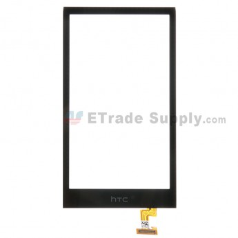 For HTC Desire 510 Digitizer Touch Screen Replacement - Black - With Logo - Grade S+
