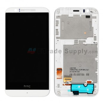 For HTC Desire 510 LCD Screen and Digitizer Assembly with Front Housing  Replacement - White - With Logo - Grade S+