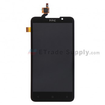 For HTC Desire 516 Dual SIM LCD Screen and Digitizer Assembly Replacement - Black - With Logo - Grade S+