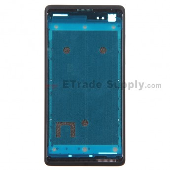 For HTC Desire 600 Front Housing Replacement - Black - Grade S+