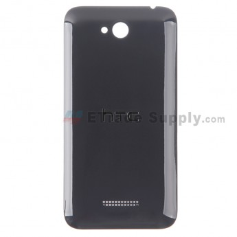 For HTC Desire 616 Dual SIM Battery Door Replacement - Black - With Logo - Grade S+