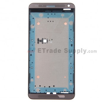 For HTC Desire 700 Dual SIM Front Housing Replacement - Gray - Grade S+