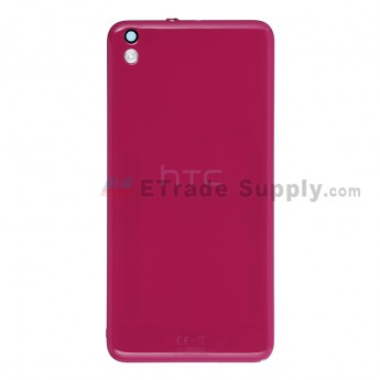 For HTC Desire 816 Battery Door  Replacement - Fuchsia - With Logo - Grade S+