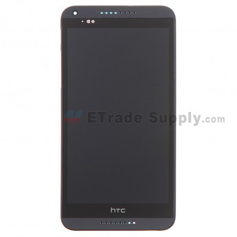 For HTC Desire 816 LCD Screen and Digitizer Assembly with Front Housing Replacement - Black - Grade S+