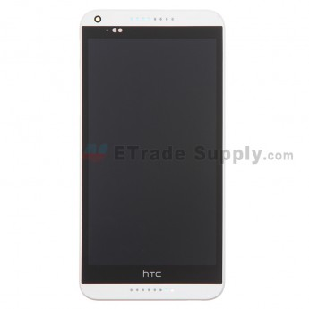 For HTC Desire 816 LCD Screen and Digitizer Assembly with Front Housing Replacement - White - With Logo - Grade S+