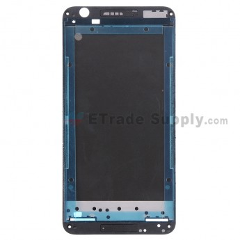 For HTC Desire 820 Front Housing without Top and Bottom Cover Replacement - Black - Grade S+