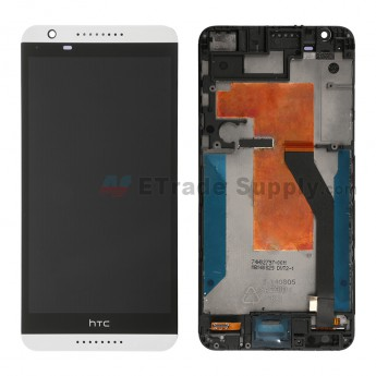 For HTC Desire 820 LCD Screen and Digitizer Assembly with Front Housing Replacement - White - Grade S+